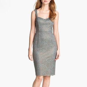 Metallic Lace Sheath Dress-Adrianna Papell-Size 6